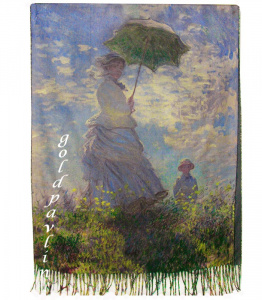 "Палантин Клод Моне ""The Walk Madame Monet and Her Son"" 1875 г."