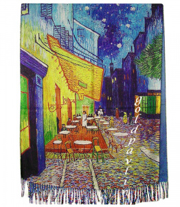 "Палантин Винсент Ван Гог ""The Cafe Terrace on the Place de Forum in Arles at Night"" 1888 г."